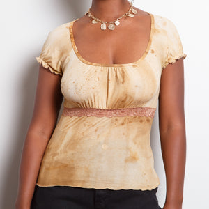 90s Speckled Tan Top