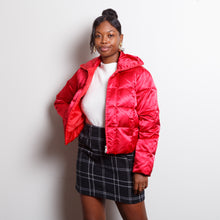 Load image into Gallery viewer, 90s Paris Blues Puffer Coat