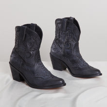 Load image into Gallery viewer, Shakuhachi Black Cowboy Booties