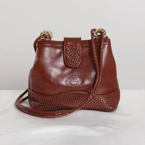80s/90s Brown Leather Shoulder Bag