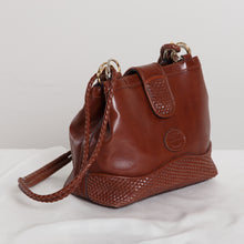 Load image into Gallery viewer, 80s/90s Brown Leather Shoulder Bag