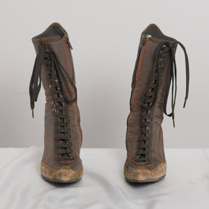 2000s Lace Up Boots