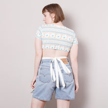 Load image into Gallery viewer, 60s/70s Flower Crop Top and Apron