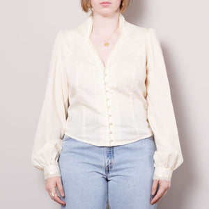 Vintage Gunne Sax Pearl Button Up