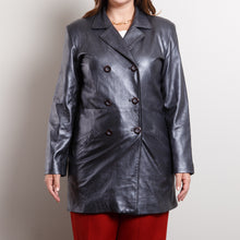 Load image into Gallery viewer, Vintage 90s Leather Trench Coat