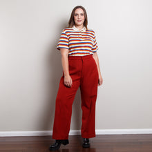Load image into Gallery viewer, 70s Striped Button Up