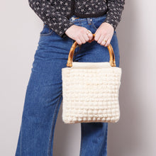 Load image into Gallery viewer, Vintage Knit Purse with Bamboo Handle