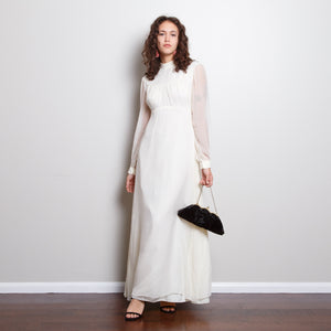 Antique Chiffon Gown