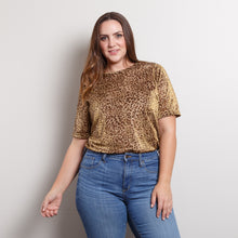 Load image into Gallery viewer, Vintage Cheetah Print Party Top