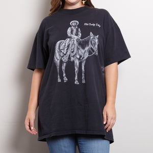 Single Stitch Cowboy Graphic T Shirt
