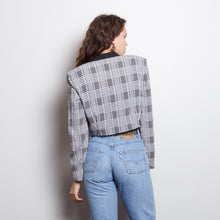 Load image into Gallery viewer, Cropped 80s Plaid Blazer