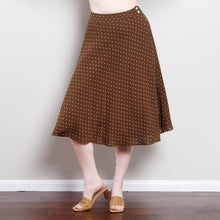 Load image into Gallery viewer, Silk 90s Midi Polka Dot Skirt