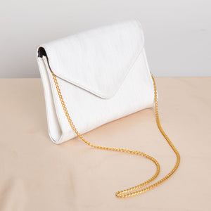 Silver Shoulder Purse with Gold Chain