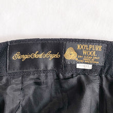 Load image into Gallery viewer, Vintage 100% Wool Black Trousers