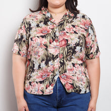 Load image into Gallery viewer, Vintage 80s/90s Tropical Floral Blouse