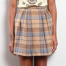 Load image into Gallery viewer, Vintage Beige Plaid Skirt