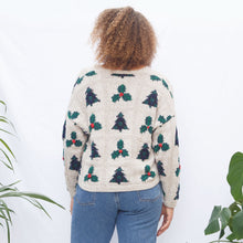 Load image into Gallery viewer, Vintage Cropped Christmas Sweater