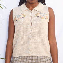 Load image into Gallery viewer, Vintage Flower Sweater Vest