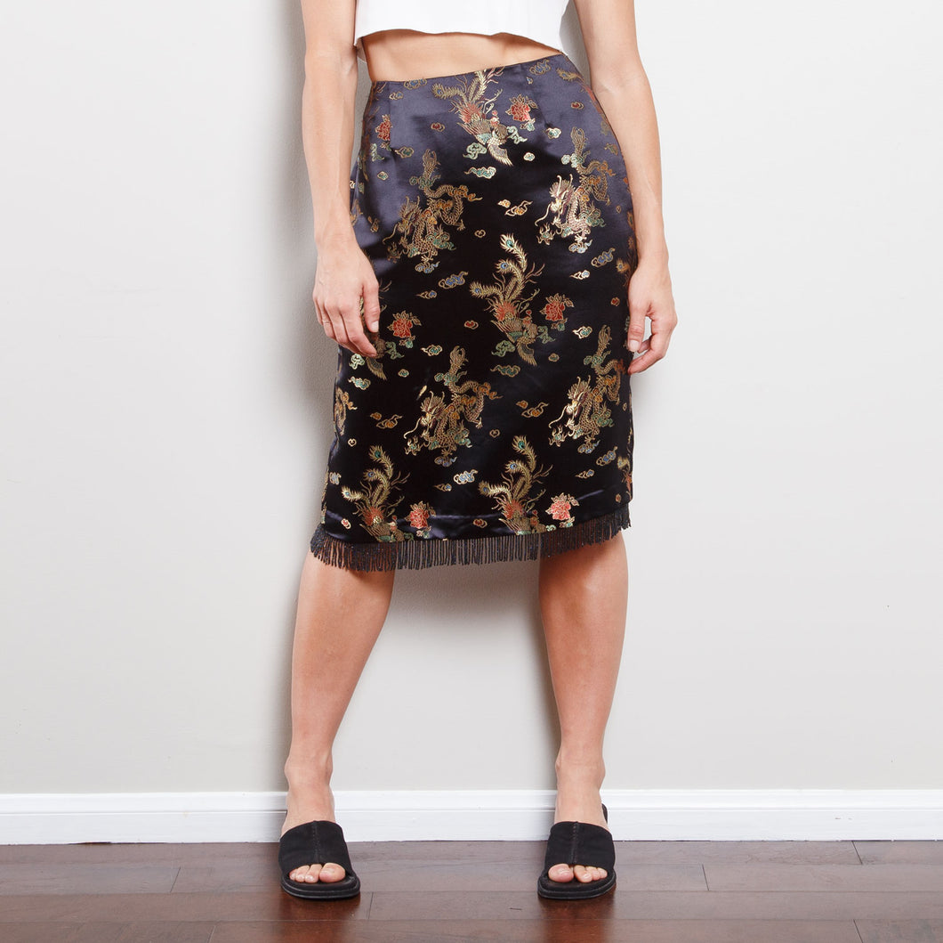Vintage High Waisted Dragon Skirt