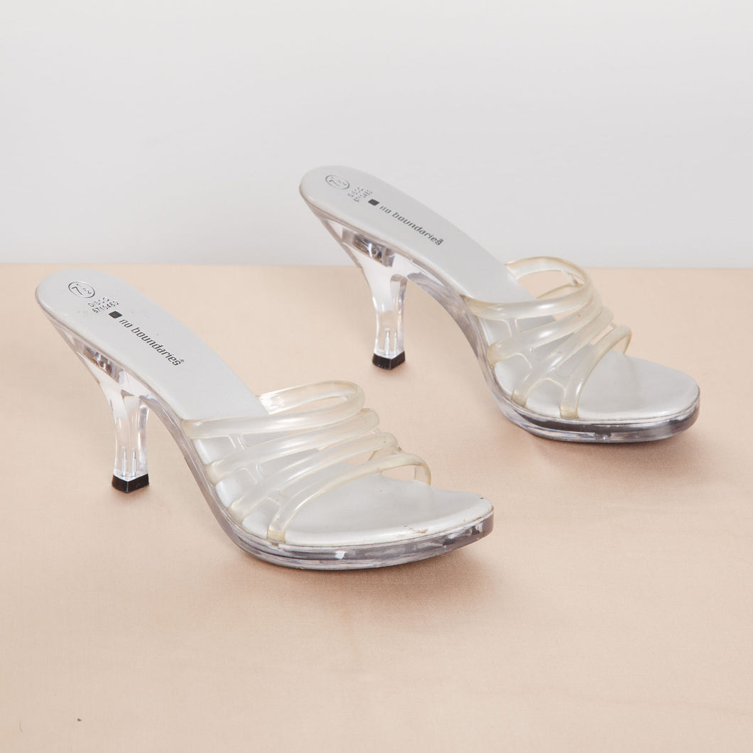 Vintage Light Up Clear Heels