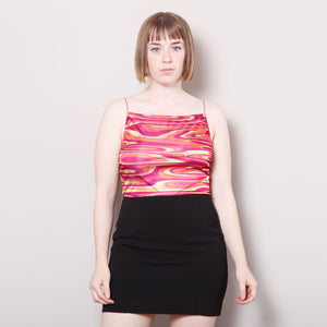Vintage Psychedelic Square Neck Tank Top