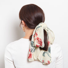 Load image into Gallery viewer, Vintage Sheer Rose Scarf