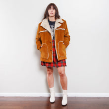 Load image into Gallery viewer, Vintage Suede Sherpa Jacket