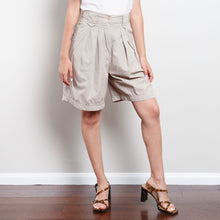 Load image into Gallery viewer, Vintage Tan Paperbag Canvas Shorts