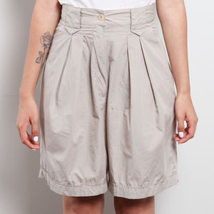 Vintage Tan Paperbag Canvas Shorts