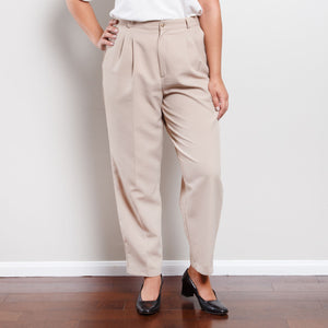 Vintage Tan Paperbag Trousers