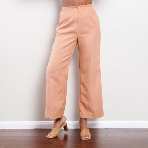 Vintage Wide Leg Salmon Pants
