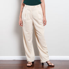 Load image into Gallery viewer, Vintage Wool Ivory Paperbag Trousers