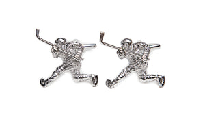 Slap Shot Hockey Player Cuff Links