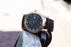 J.Ciro Ambassador Rose Black Dress Watch
