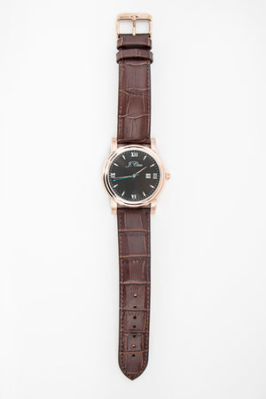 Brown Genuine Leather Alligator Grain Watch Strap