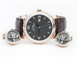 Limited Edition Special: Ambassador Dress Watch + Tourbillon Cuff Links + Travel Wallet