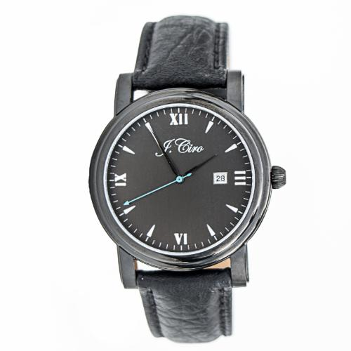 J.Ciro Ambassador Stealth Black Dress Watch