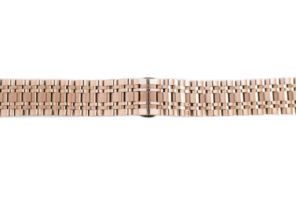 Rose Gold Metal Watch Band
