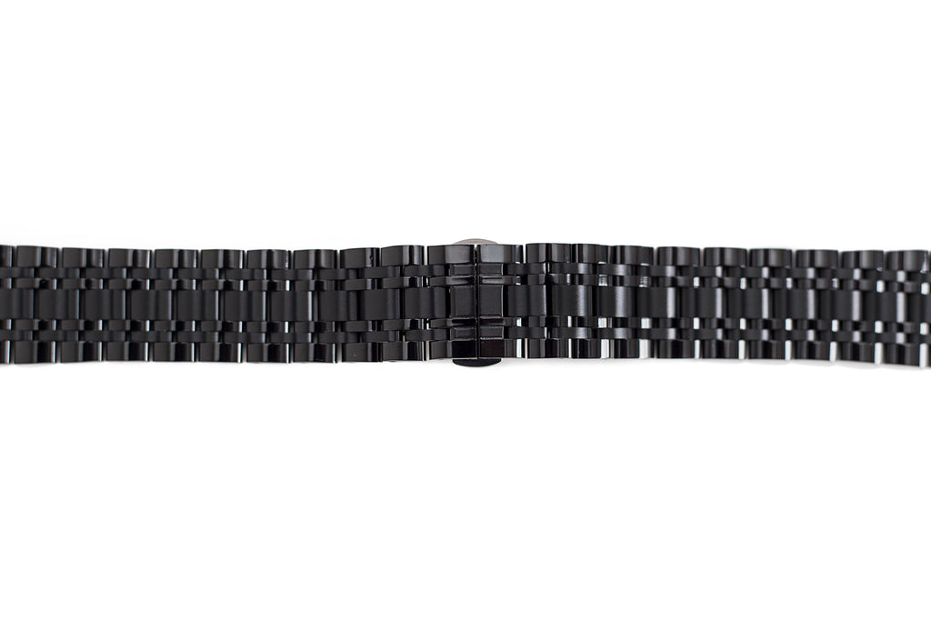 Black Metal Watch Band