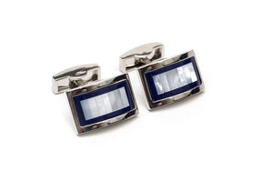 Blue Pearlescent Cuff Links