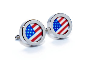 American Flag GLOW Cuff Links