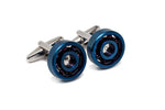 Blue Ball Bearing Cuff Links