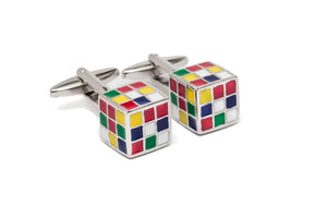 Rubik's Cube Cuff Links
