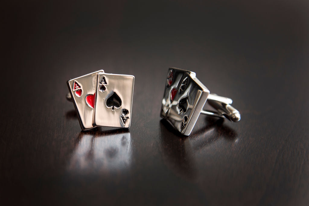 Pocket Aces Cuff Links