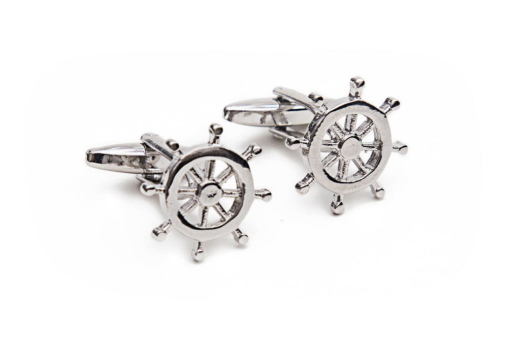 Ship Wheel Cuff Links
