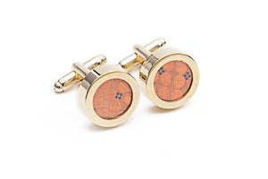 Gun Metal Silk Cuff Links
