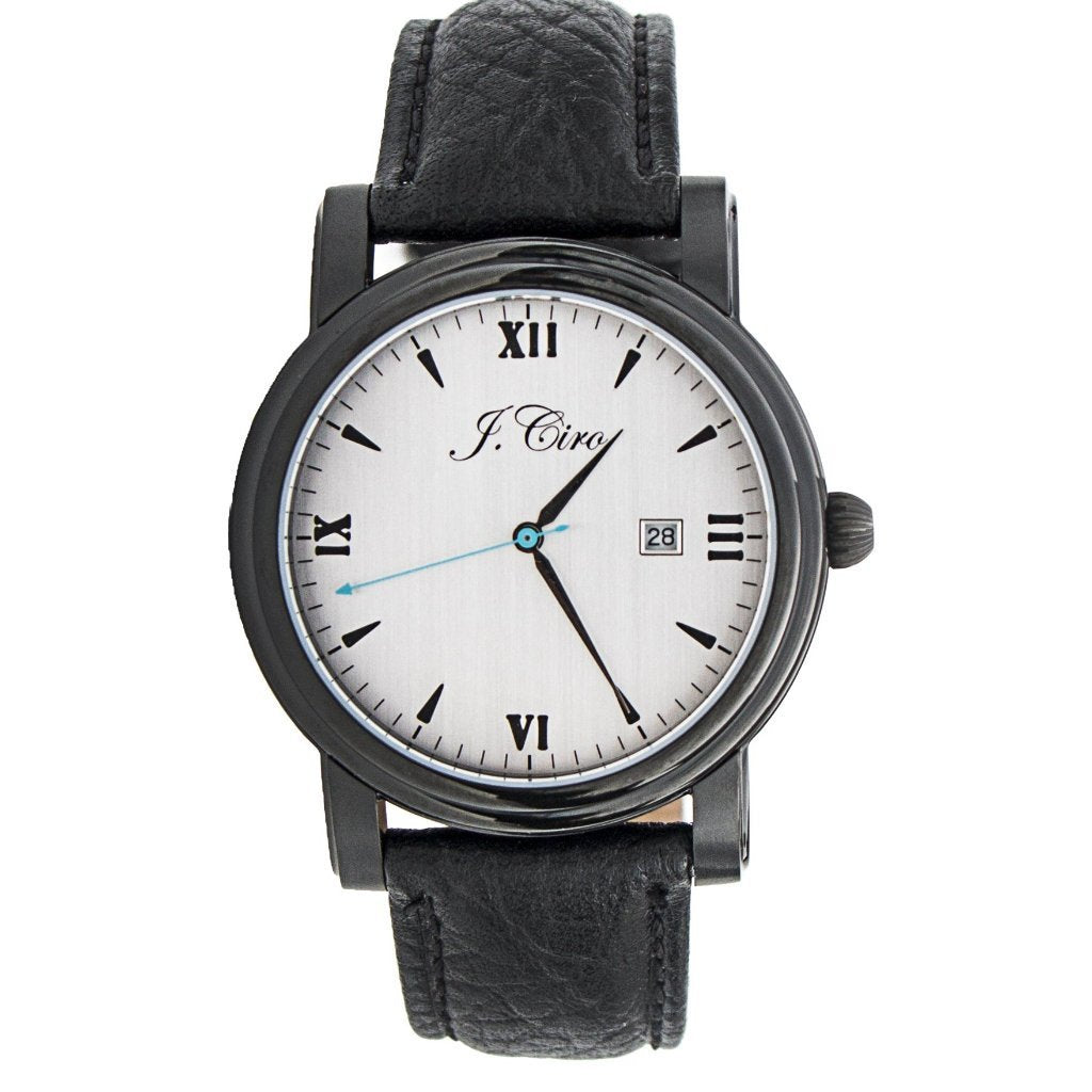 J.Ciro Ambassador Stealth White Dress Watch