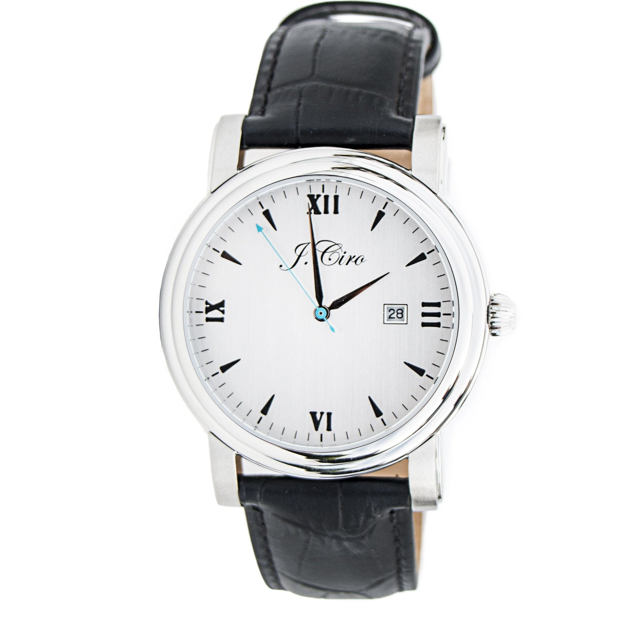 J.Ciro Ambassador Steel White Dress Watch