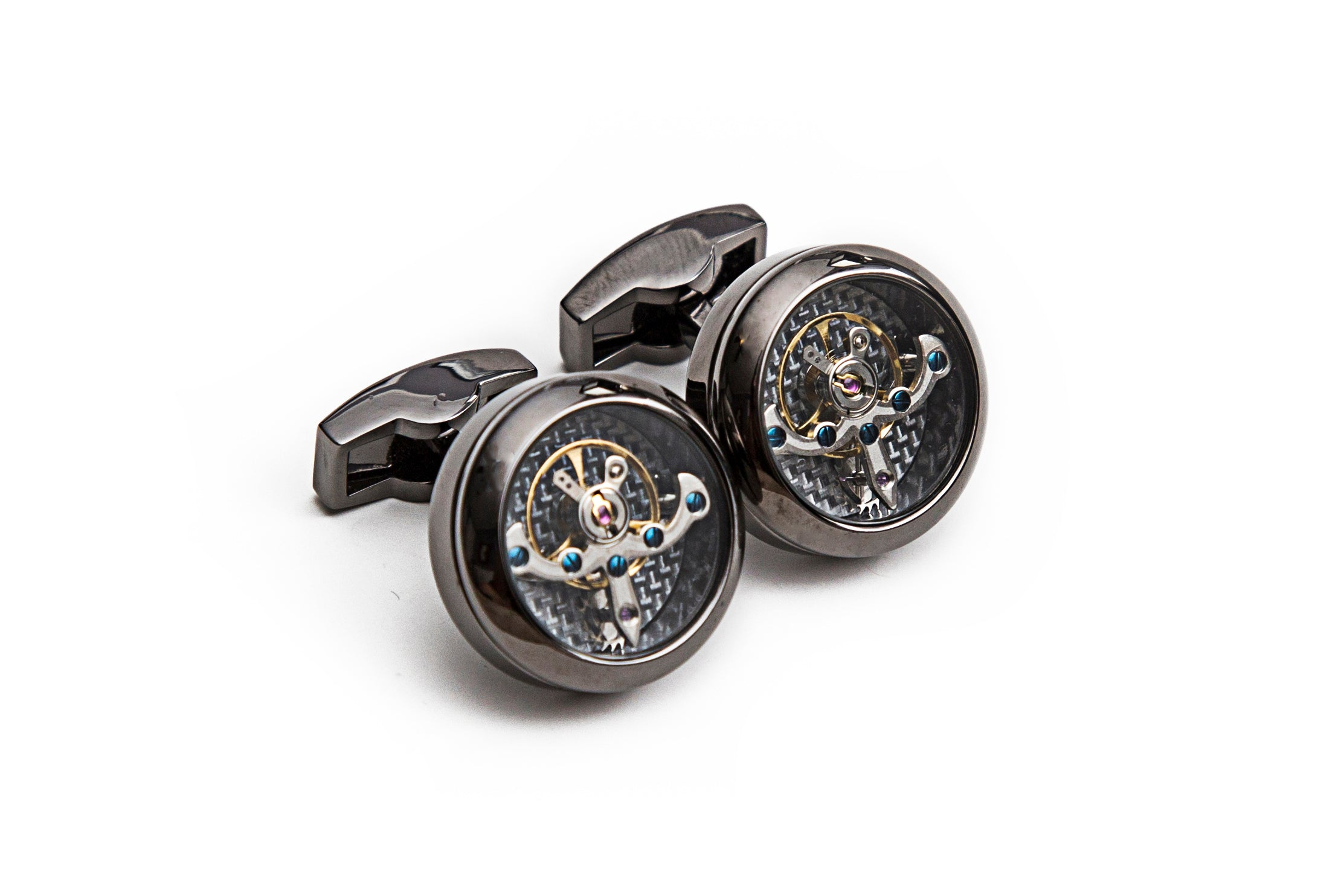 Gun Metal Tourbillon Cuff Links