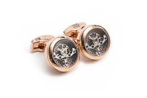 Rose Gold Tourbillon Cuff Links